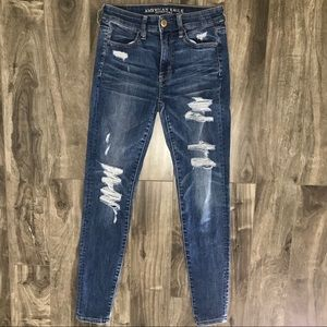 American Eagle Outfitters Jeans - American Eagle distressed hi rise jeggings
